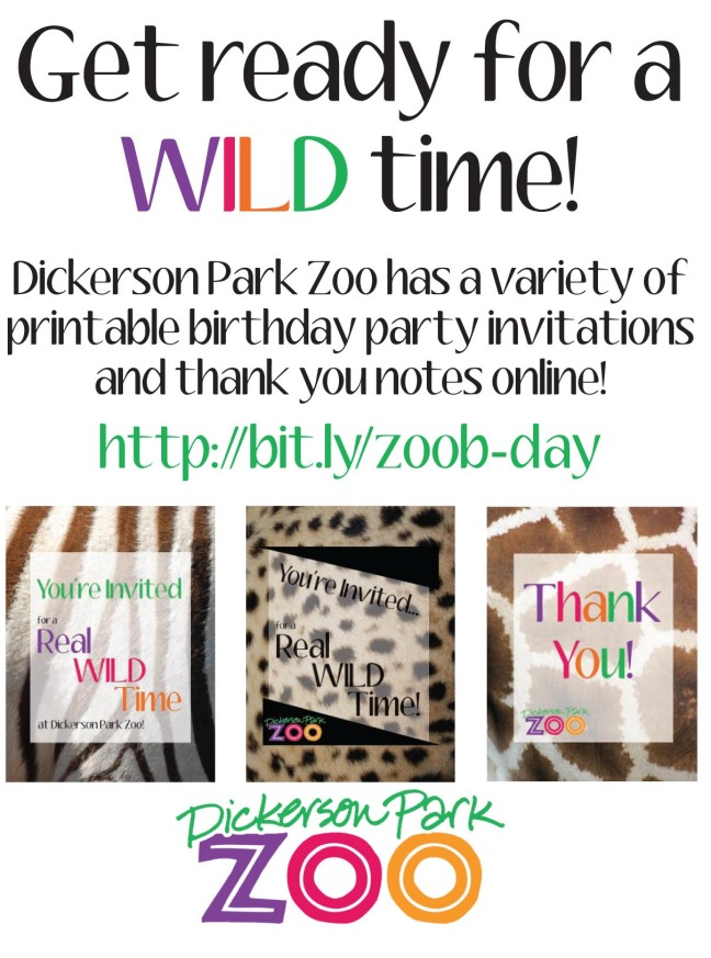 Birthday Parties Elmwood Park Zoo  Party Invitations Ideas
